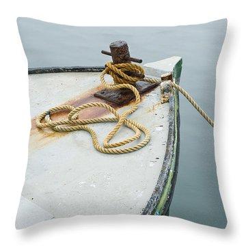 Oak Bluffs Fishing Boat Throw Pillow
