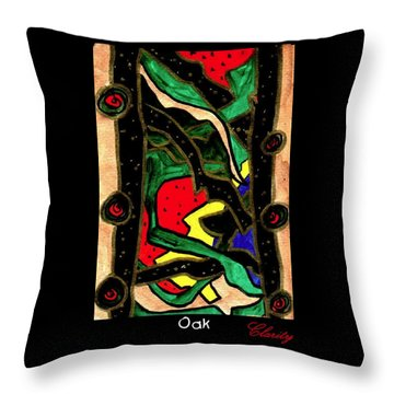 Throw Pillow featuring the painting Oak by Clarity Artists