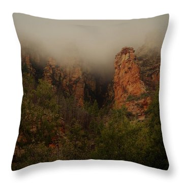 Oak Creek Canyon Arizona Throw Pillow