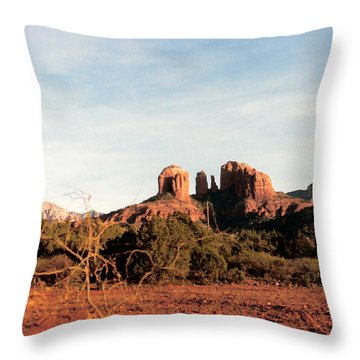 Oak Creek Canyon Throw Pillow by Lauri Novak
