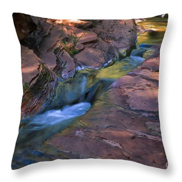 Oak Creek Canyon Splendor Throw Pillow