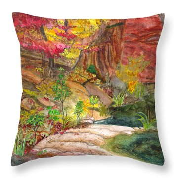 Oak Creek West Fork Throw Pillow