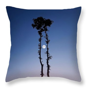 Oak Kissing Throw Pillow by Bess Hamiti