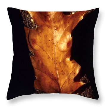 Oak Leaf Throw Pillow by Arla Patch