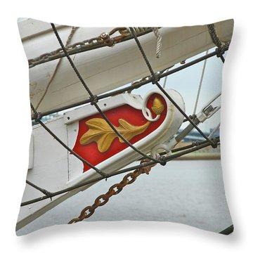 Oak Leaf Throw Pillow by Rick  Monyahan