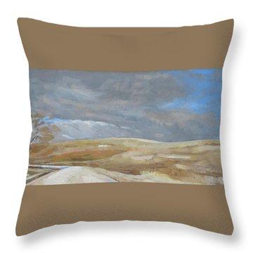 Oak Savanna, Fall Storm Throw Pillow