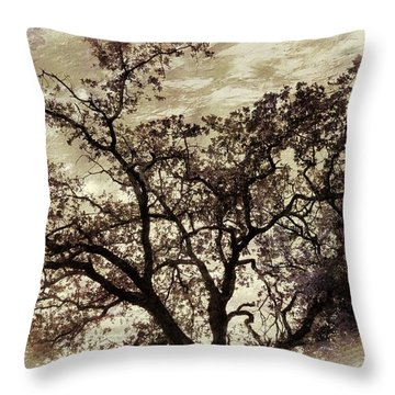 Throw Pillow featuring the photograph Oak Tree by Athala Carole Bruckner