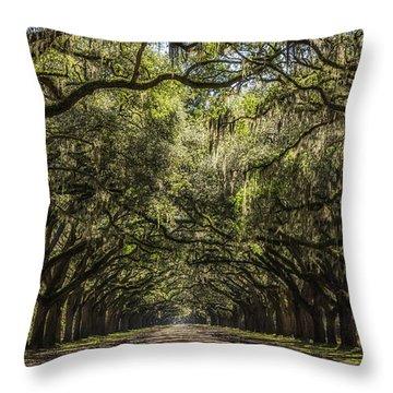 Oak Tree Tunnel #2 Throw Pillow