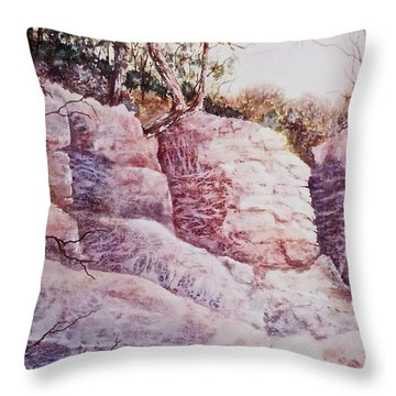 Throw Pillow featuring the painting Oakfield Ridge by Carolyn Rosenberger