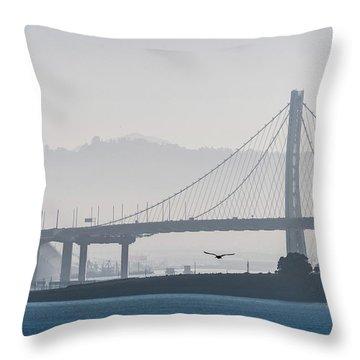 Oakland Bay Bridge Throw Pillow