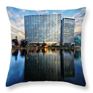 Oakland, California Cityscape Throw Pillow