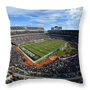 Oakland Raiders O.co Coliseum Throw Pillow