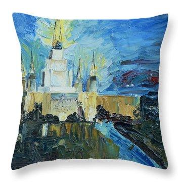 Oakland Temple Throw Pillow