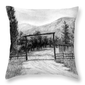 Oakley Ranch Entrance Throw Pillow