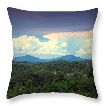 Oakrun Thunderstorm Throw Pillow by Joyce Dickens