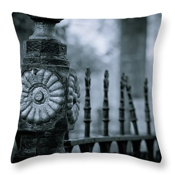 Throw Pillow featuring the photograph Oakwood Cemetery by Linda Unger