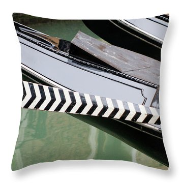 Oar Gondola Venice Throw Pillow