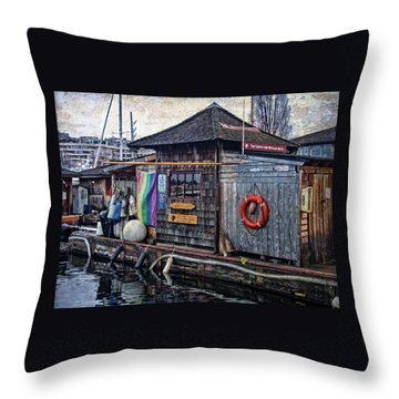 Throw Pillow featuring the photograph Oarhouse by Thom Zehrfeld