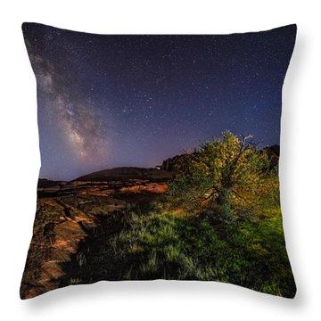 Oasis Milky Way Throw Pillow