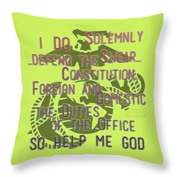Throw Pillow featuring the mixed media Oath by TortureLord Art