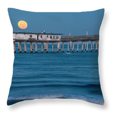 Throw Pillow featuring the photograph O B Morning by Dan McGeorge