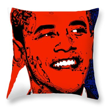 Throw Pillow featuring the digital art Obama Hope by Rabi Khan