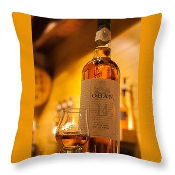 Oban Whisky Throw Pillow