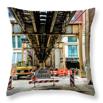 Obey The Signs Throw Pillow
