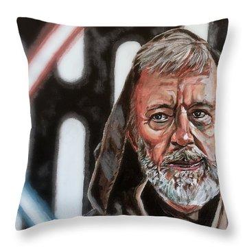 Obi-wan Kenobi's Last Stand Throw Pillow