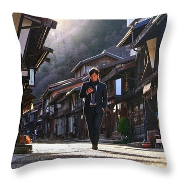 Throw Pillow featuring the photograph Oblivious To The Beauty Around by Peter Thoeny