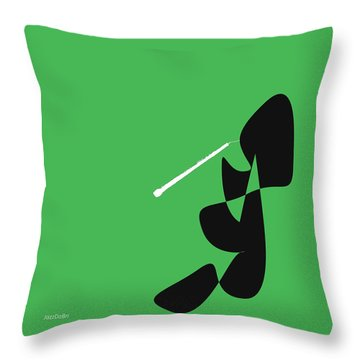 Oboe In Green Throw Pillow