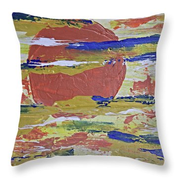 Obscure Orange Abstract Throw Pillow