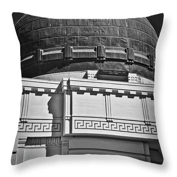 Throw Pillow featuring the photograph Observatory In Art Deco by Kirt Tisdale
