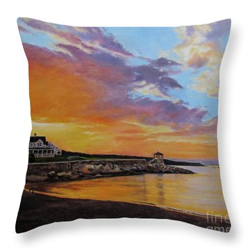 Observatory Point, Rockport, Ma Throw Pillow