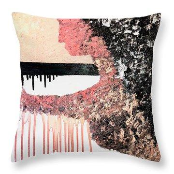 Obsidian Blush Throw Pillow