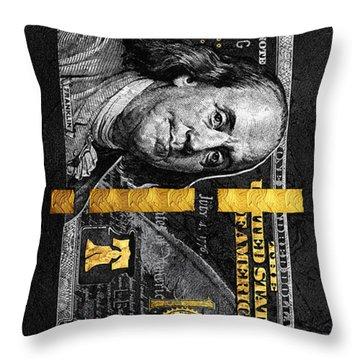 Obsidian Franklin Throw Pillow
