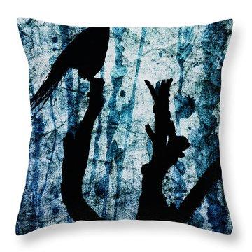 Obsidian Realm Throw Pillow by Andrew Paranavitana
