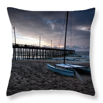 Obx Morning Throw Pillow