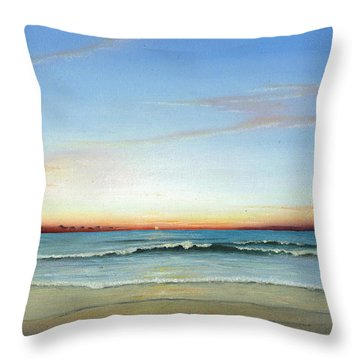 Throw Pillow featuring the painting Obx Sunrise by Albert Puskaric