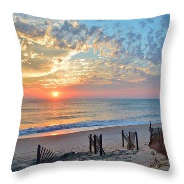 Obx Sunrise September 7 Throw Pillow