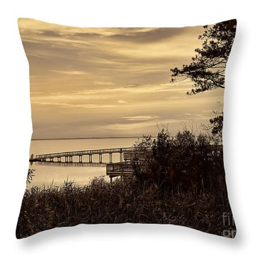 Obx Sunset In Sepia Throw Pillow