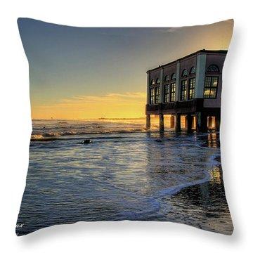 Oc Music Pier Sunset Throw Pillow by John Loreaux
