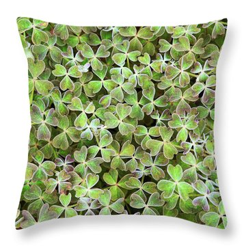 Throw Pillow featuring the photograph Oca Leaves by Tim Gainey