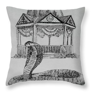 Ocala Cobra Throw Pillow