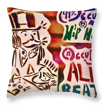 Occupy All Beats Throw Pillow by Tony B Conscious