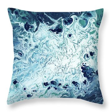 Ocean- Abstract Art By Linda Woods Throw Pillow