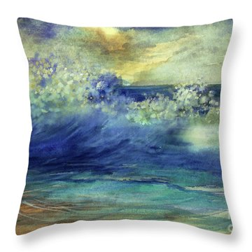 Ocean Throw Pillow by Allison Ashton
