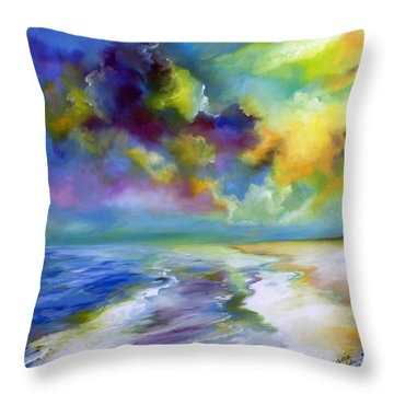 Ocean And Beach Throw Pillow