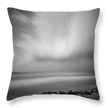 Ocean And Clouds Throw Pillow