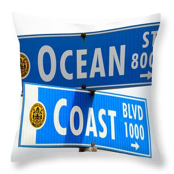 Ocean And Coast Throw Pillow
